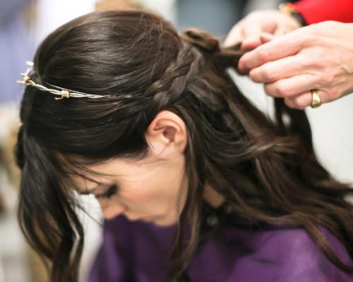 JOHN FRIEDA at RODARTE FW13 - Backstage